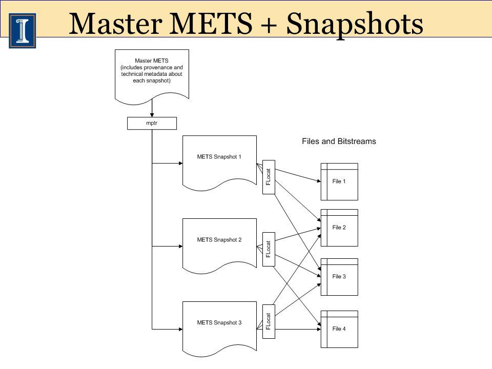 Master METS + Snapshots