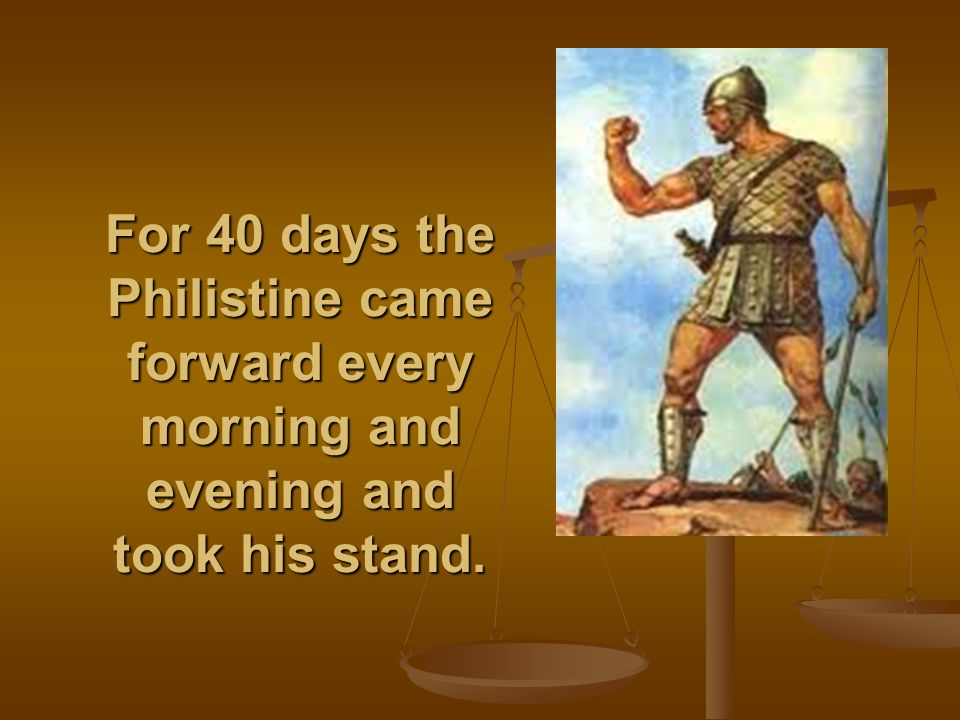 David was the youngest. The three oldest followed Saul, but David went back and forth from Saul to tend his father's sheep at Bethlehem.