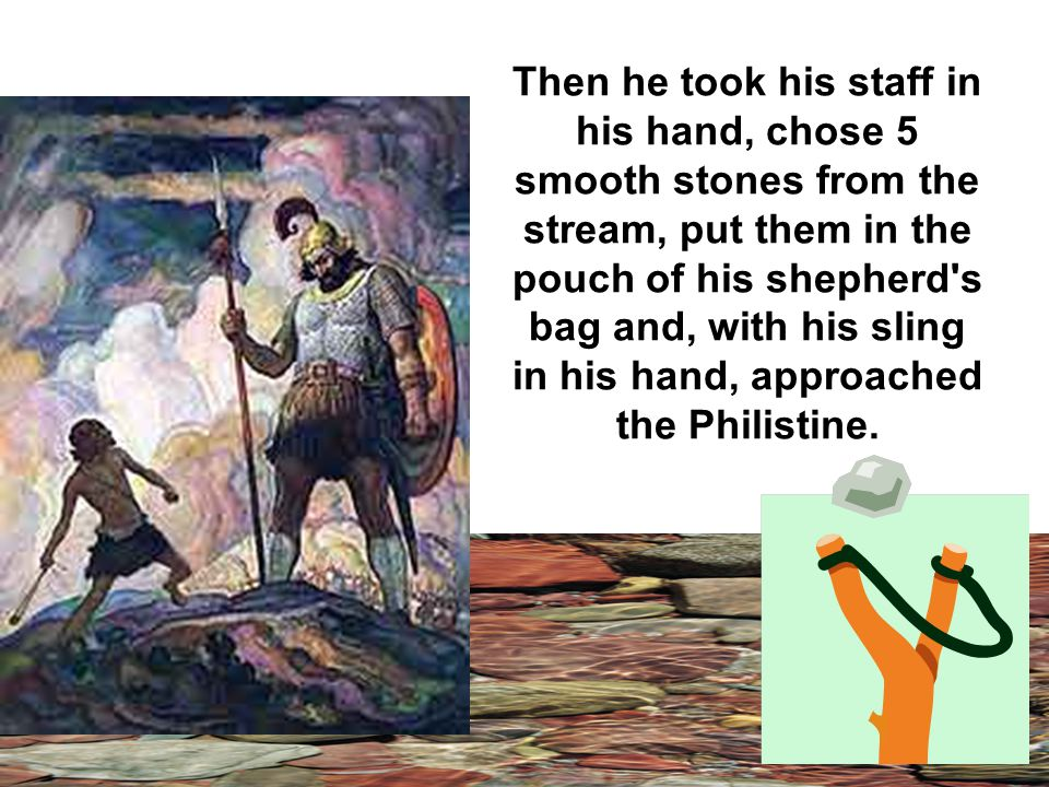 David fastened on his sword over the tunic and tried walking around, because he was not used to them.