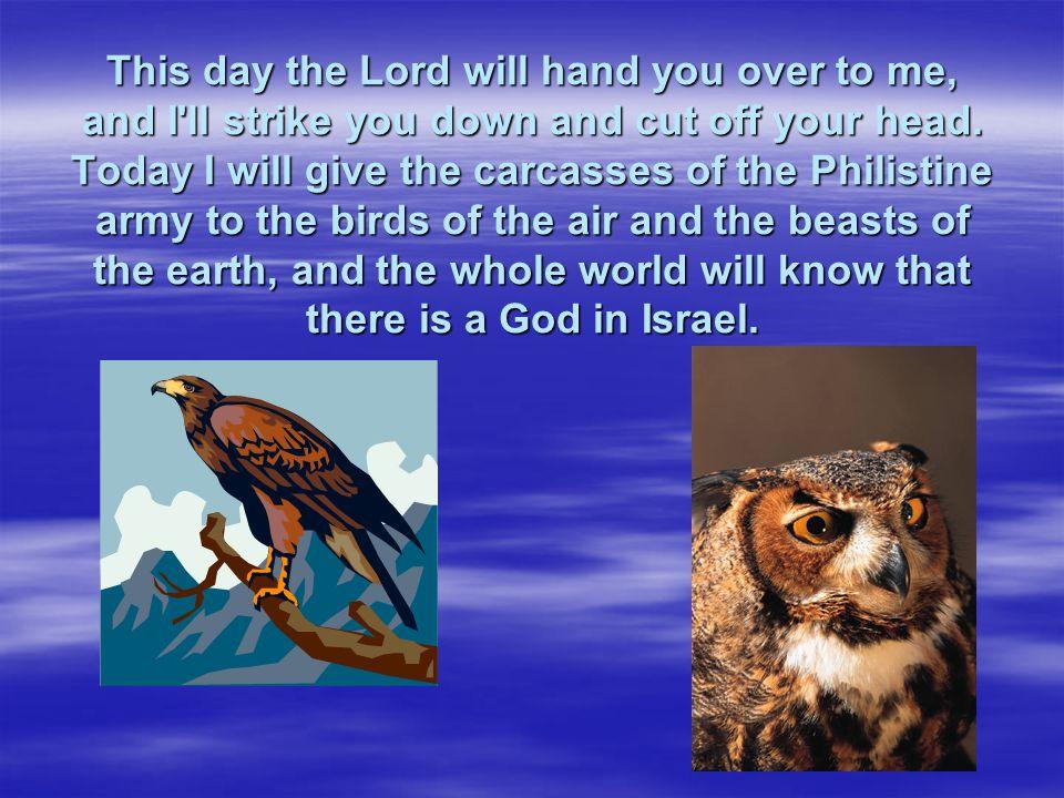 David said to the Philistine,