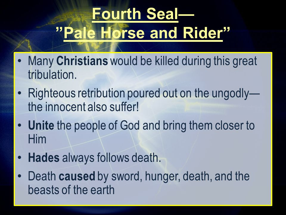 Many Christians would be killed during this great tribulation.