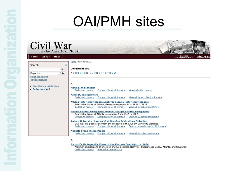 OAI/PMH sites