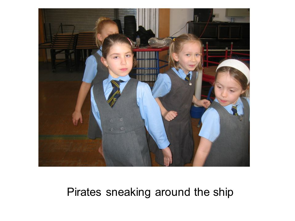 Pirates sneaking around the ship