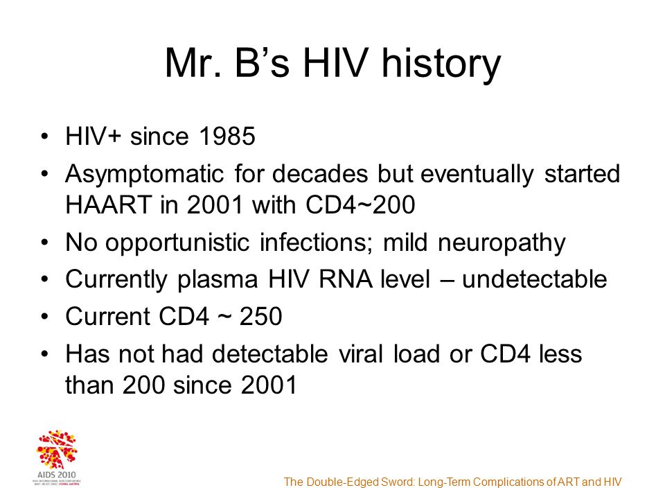 The Double-Edged Sword: Long-Term Complications of ART and HIV Mr.