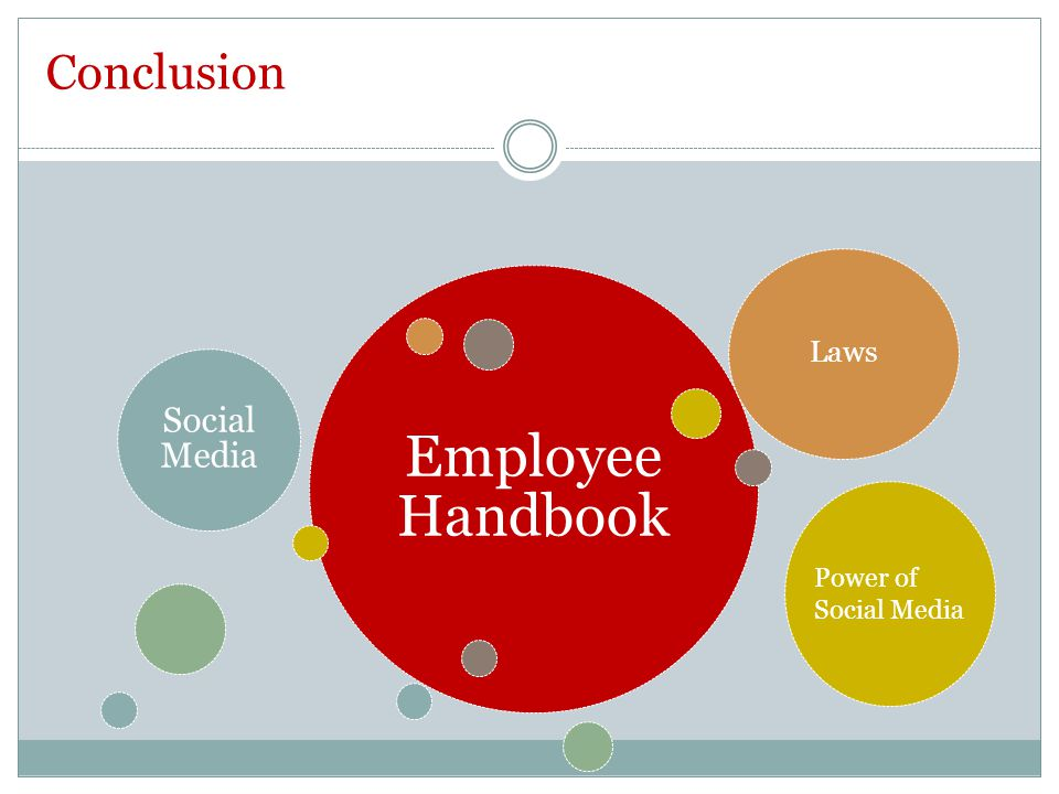 Employee Handbook Social Media Laws Conclusion Power of Social Media