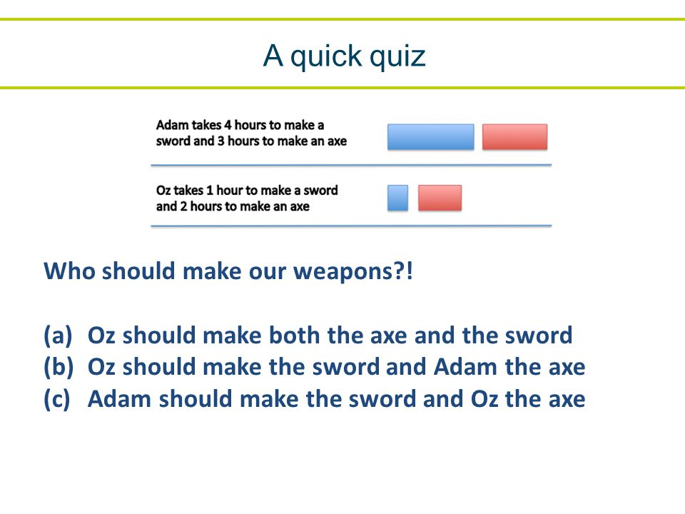 Who should make our weapons .