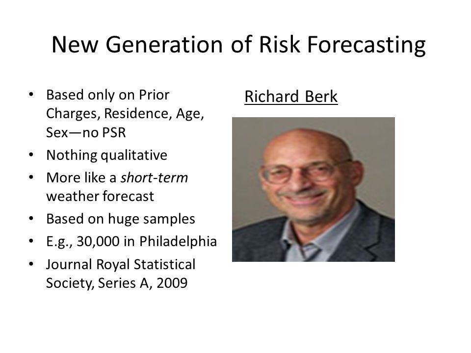 High Risk (2%) Neither High nor Low Risk (38%) Low Risk (60%) Geoffrey Barnes (2007) 2-Year Berk Forecast Test, Philadelphia APPD Cases