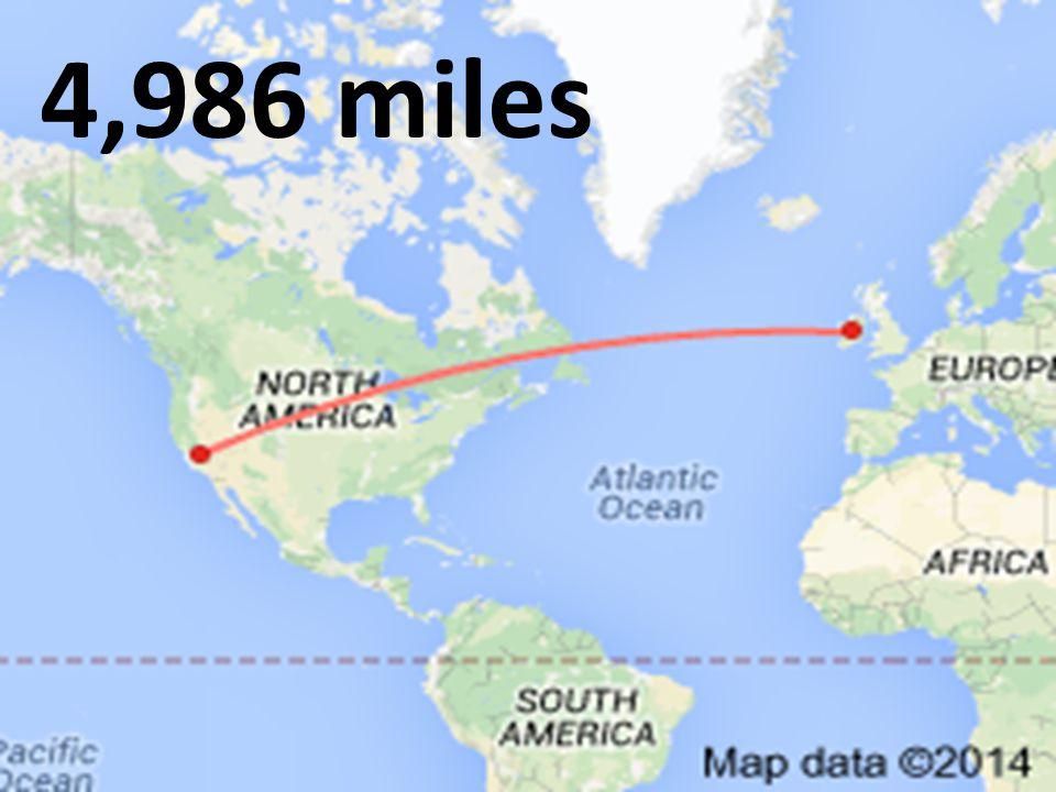 4,986 miles