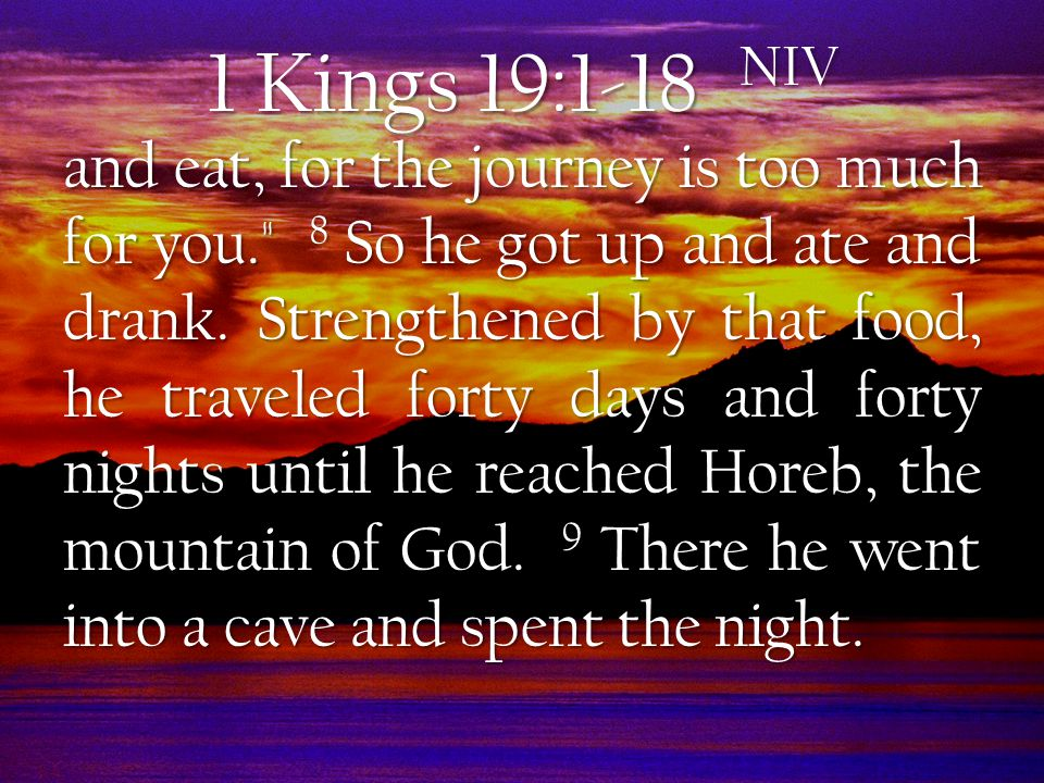  Exhaustion (1 Kings 18:44-46) Elijah's Discouragement