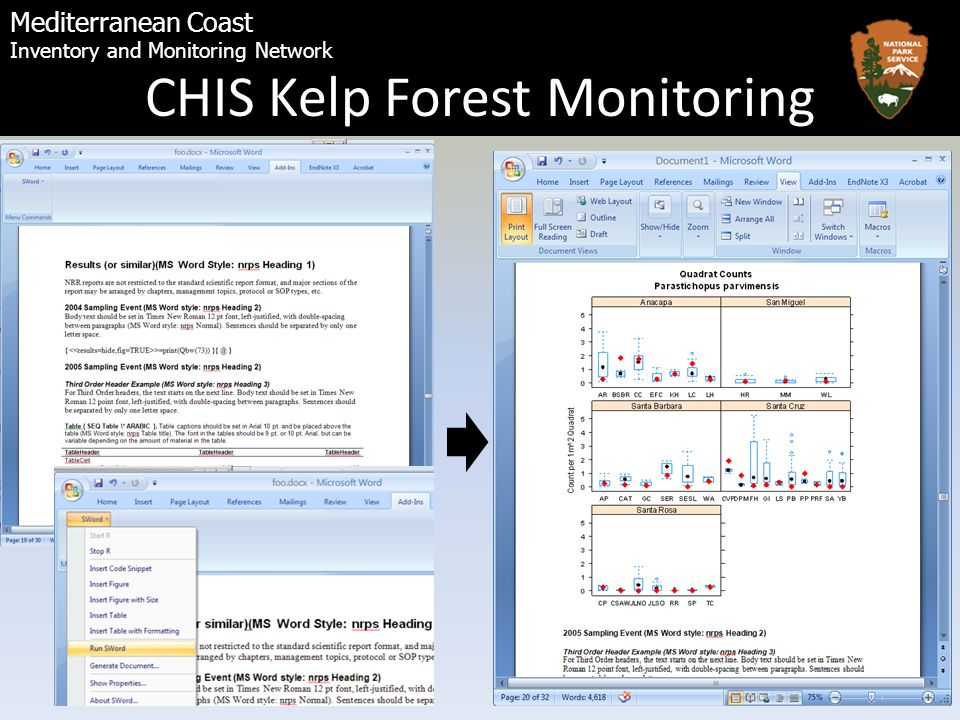 Mediterranean Coast Inventory and Monitoring Network CHIS Kelp Forest Monitoring
