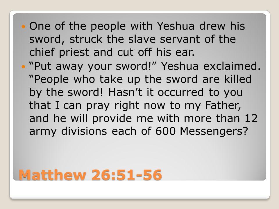 Yeshua responded, If I said something wrong, produce evidence of it.