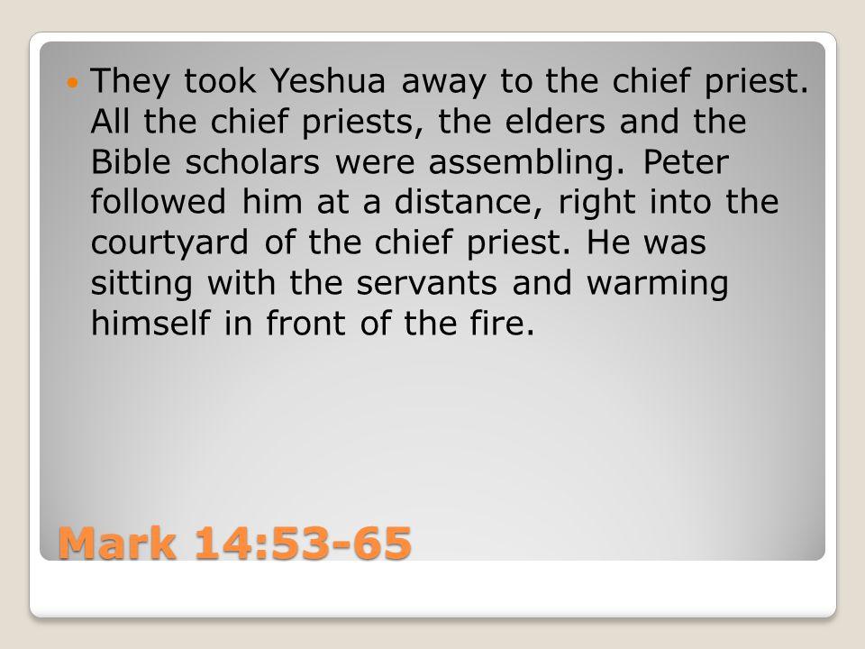 You said it! Yeshua replied.