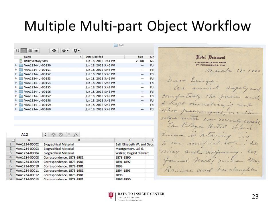 Multiple Multi-part Object Workflow 23