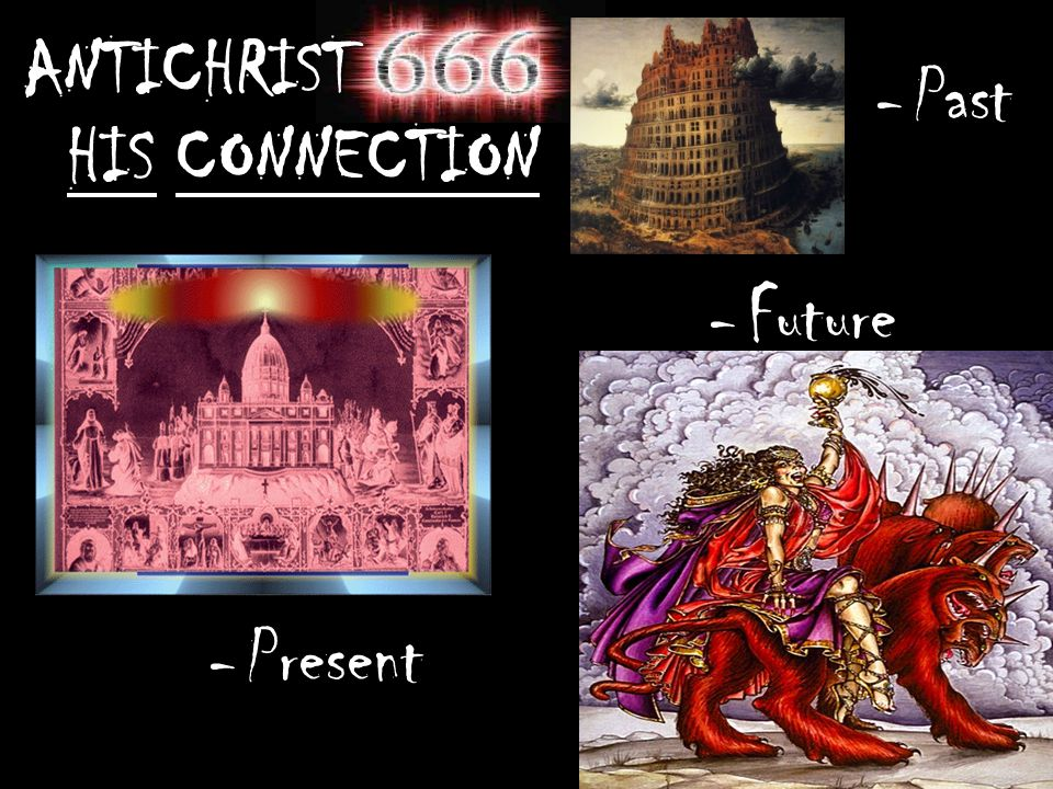 ANTICHRIST HIS CONNECTION -Present -Past -Future