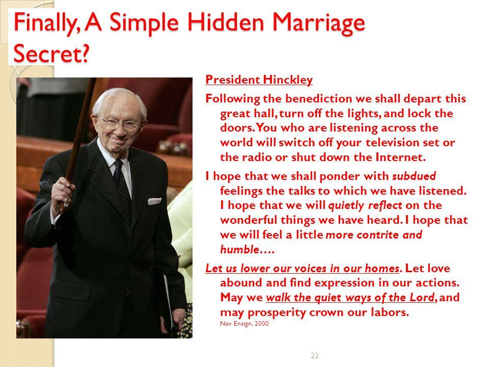 Finally, A Simple Hidden Marriage Secret.