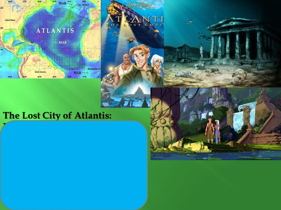 The Lost City of Atlantis: Legend because...  Possible basis of truth  Mention of Gods- Poseidon  Story about people (the Atlanteans)  A story/ pl