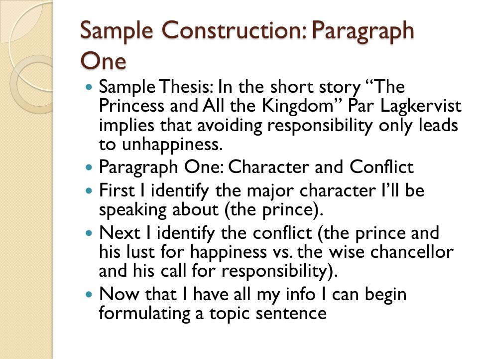 Topic Sentence Help I want to start with a transitional phrase.