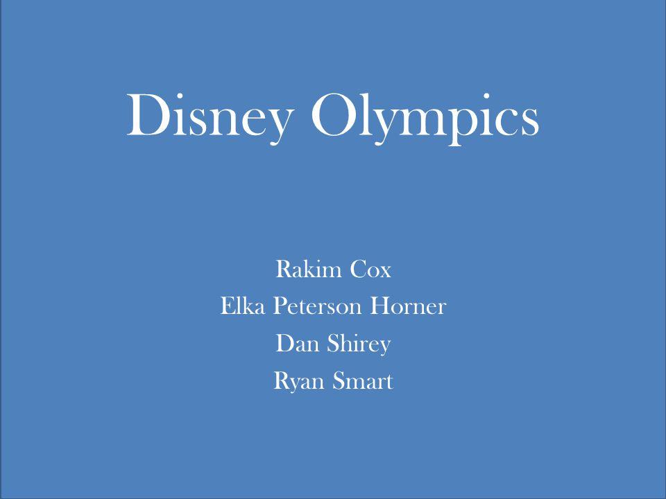 Disney Olympics Rakim Cox Elka Peterson Horner Dan Shirey Ryan Smart