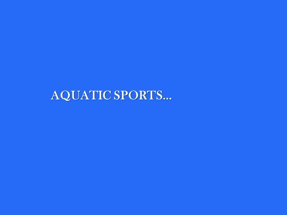AQUATIC SPORTS…