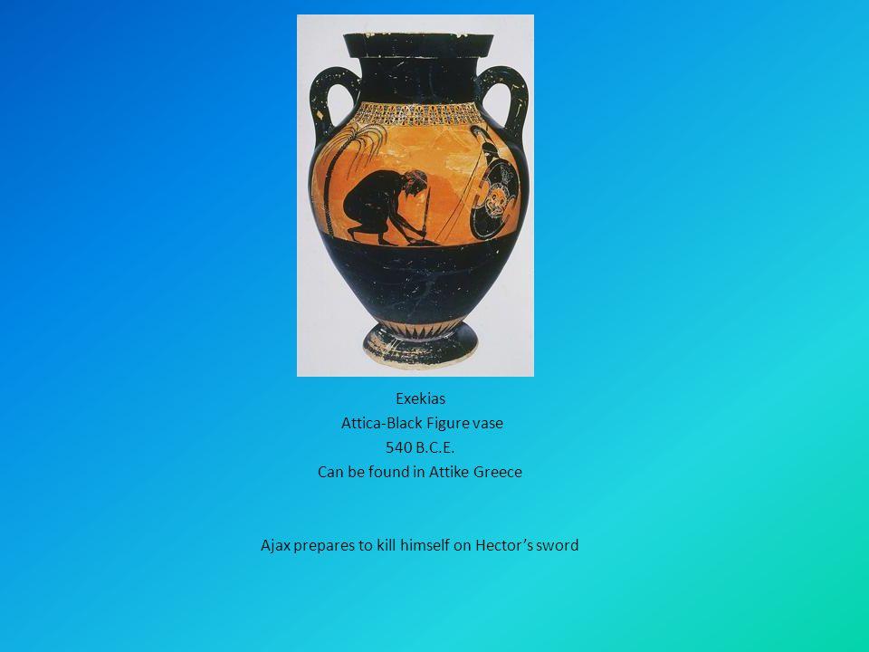 Exekias Attica-Black Figure vase 540 B.C.E.
