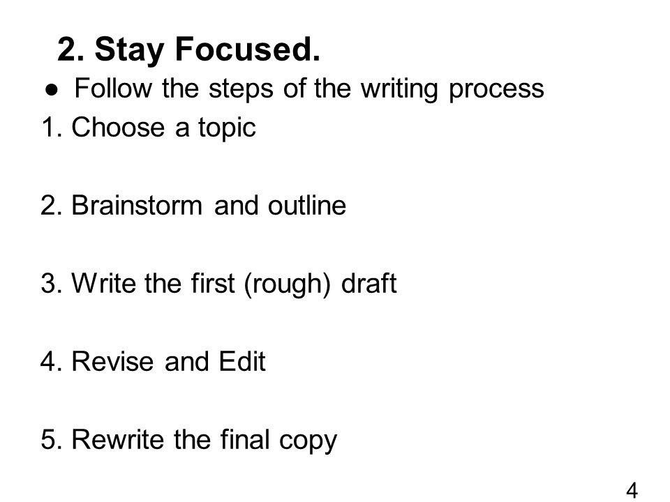 ●Use an outline Sample outline for a basic essay...