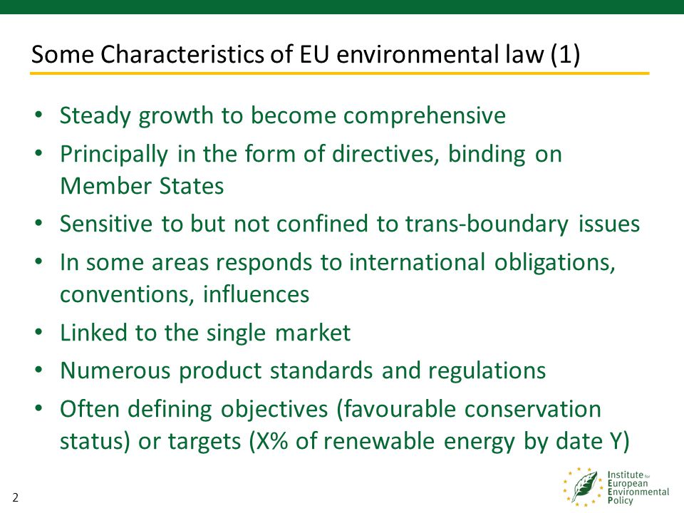 13 UK environmental policy has been transformed by EU membership Withdrawal would create widespread uncertainty unless clear alternatives were in place What would be the UK vision for the environment.