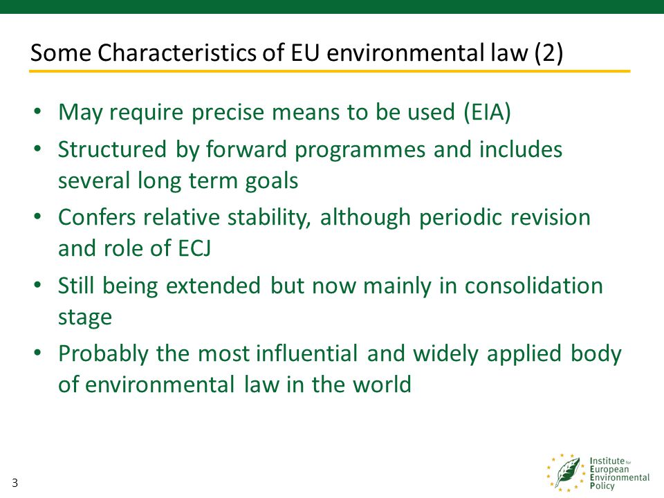 4 The volume and scope of environmental policy in the UK The objectives and ambition Consideration of trans-boundary and pan-European issues Shift in the policy mechanisms employed e.g.