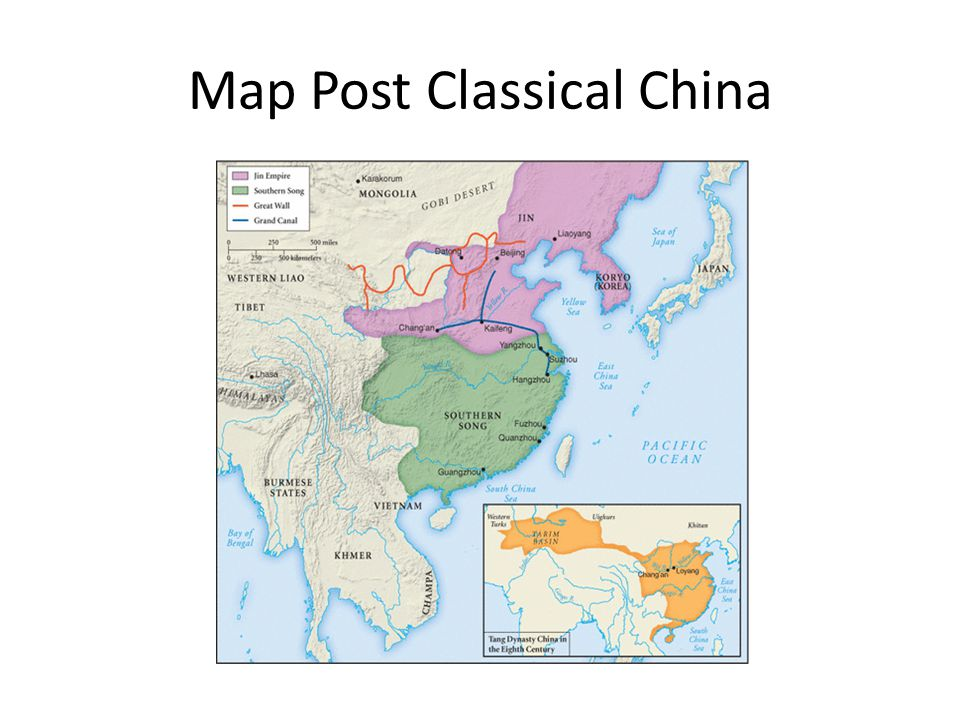 Map Post Classical China