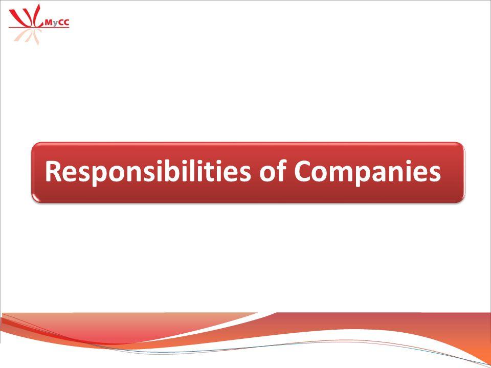 26 Responsibilities of Companies
