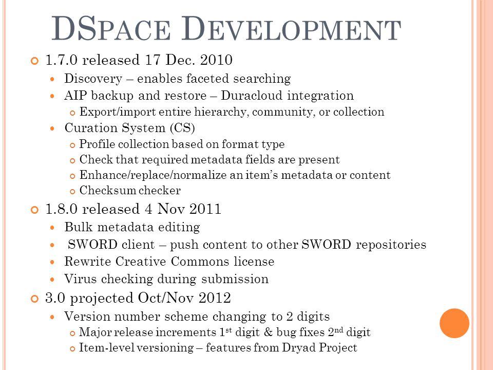 DS PACE D EVELOPMENT 1.7.0 released 17 Dec.