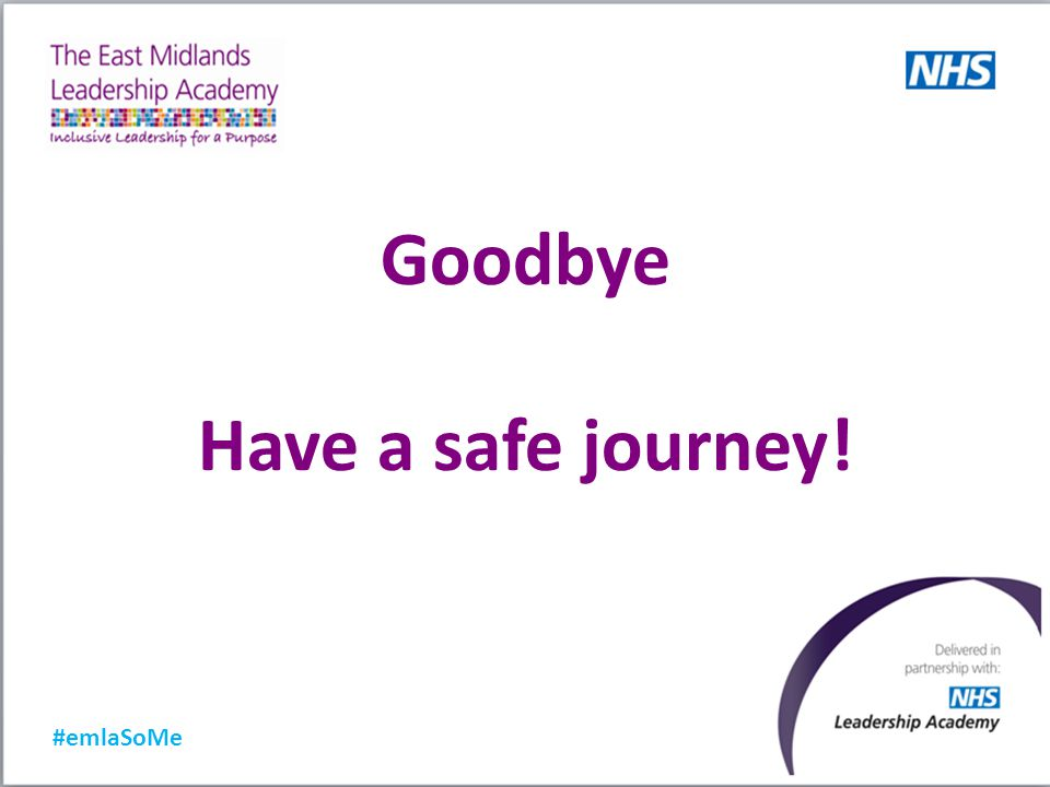 #emlaSoMe Goodbye Have a safe journey!