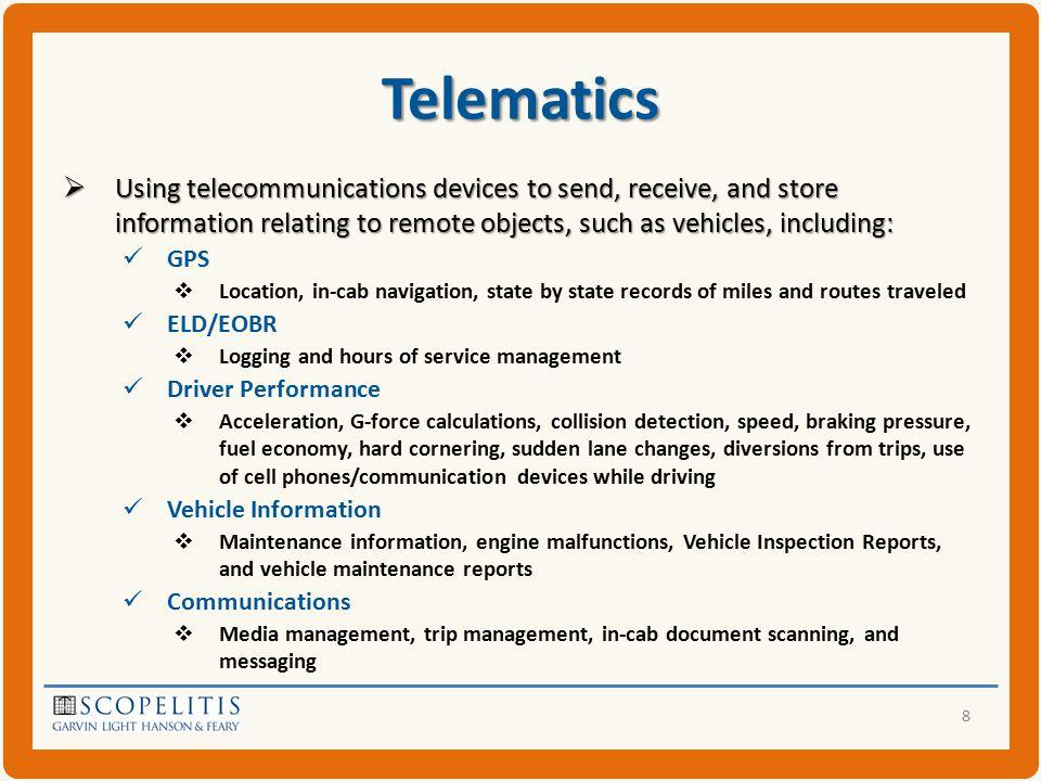 Company Policy on Telematics Company Policy on Telematics 39