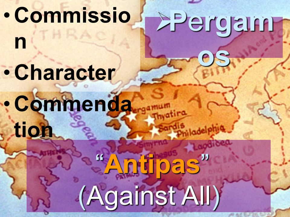 """Antipas"" (Against All) ""Antipas"" (Against All) Commissio n Character Commenda tion  Pergam os"