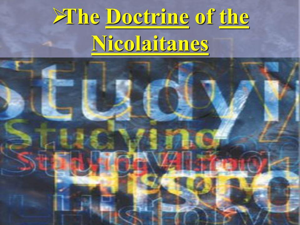  The Doctrine of the Nicolaitanes