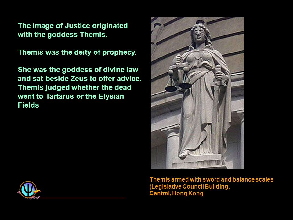 The image of Justice originated with the goddess Themis.