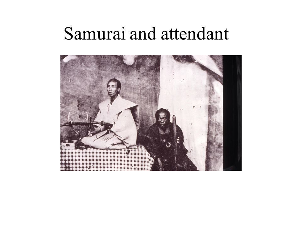 Samurai and attendant
