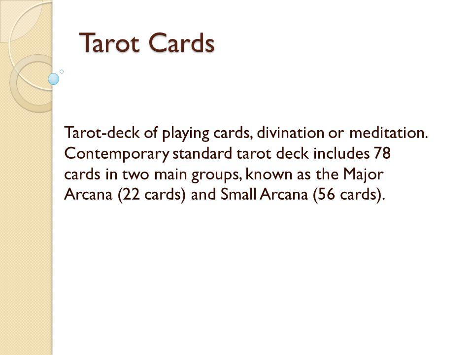 Tarot Cards Tarot-deck of playing cards, divination or meditation.