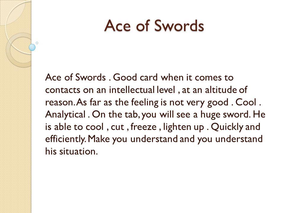 Ace of Swords Ace of Swords.