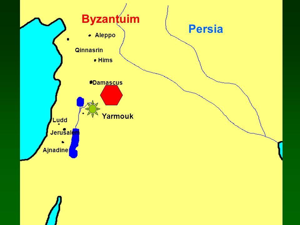 Damascus Ajnadine Jerusalem Ludd Aleppo Qinnasrin Persia Byzantuim Hims Yarmouk