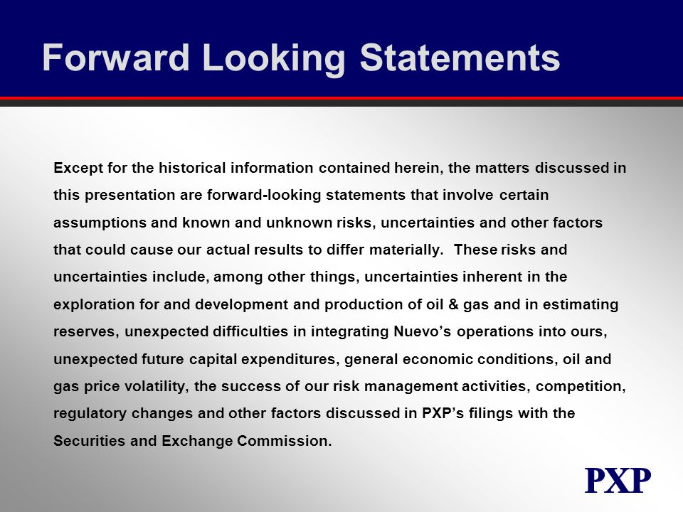 Forward Looking Statements Except for the historical information contained herein, the matters discussed in this presentation are forward-looking statements that involve certain assumptions and known and unknown risks, uncertainties and other factors that could cause our actual results to differ materially.
