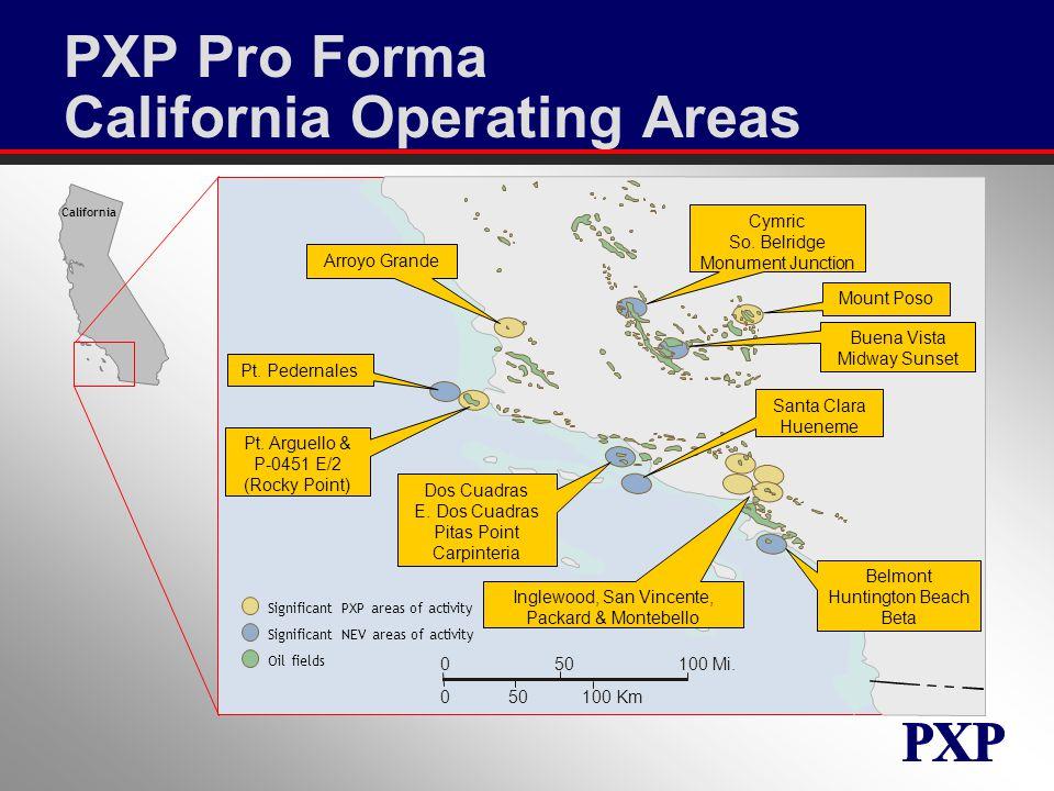 PXP Pro Forma California Operating Areas 050100 Mi.