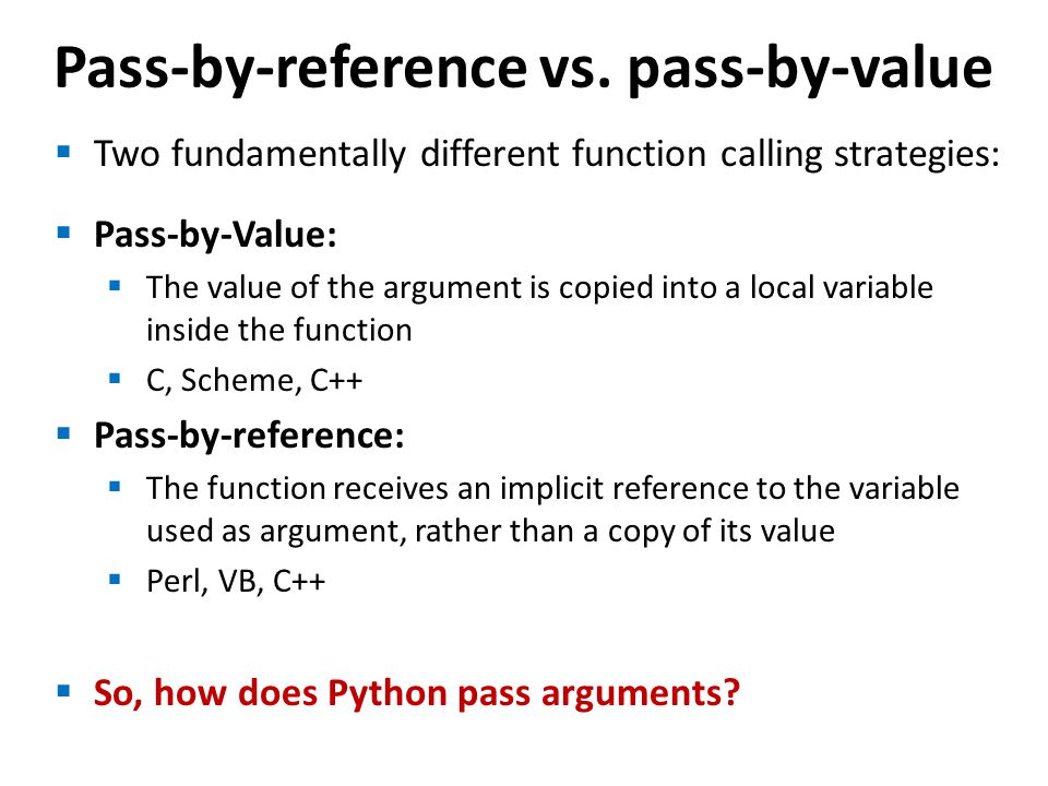 Pass-by-reference vs.