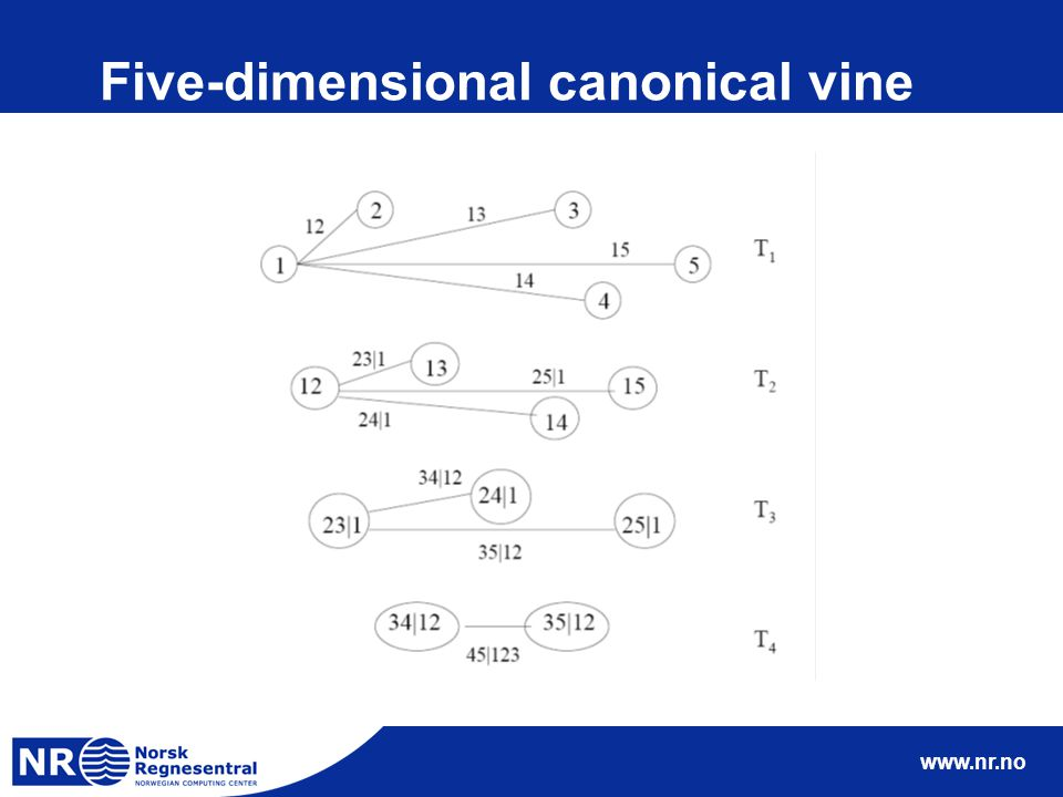 www.nr.no Five-dimensional canonical vine