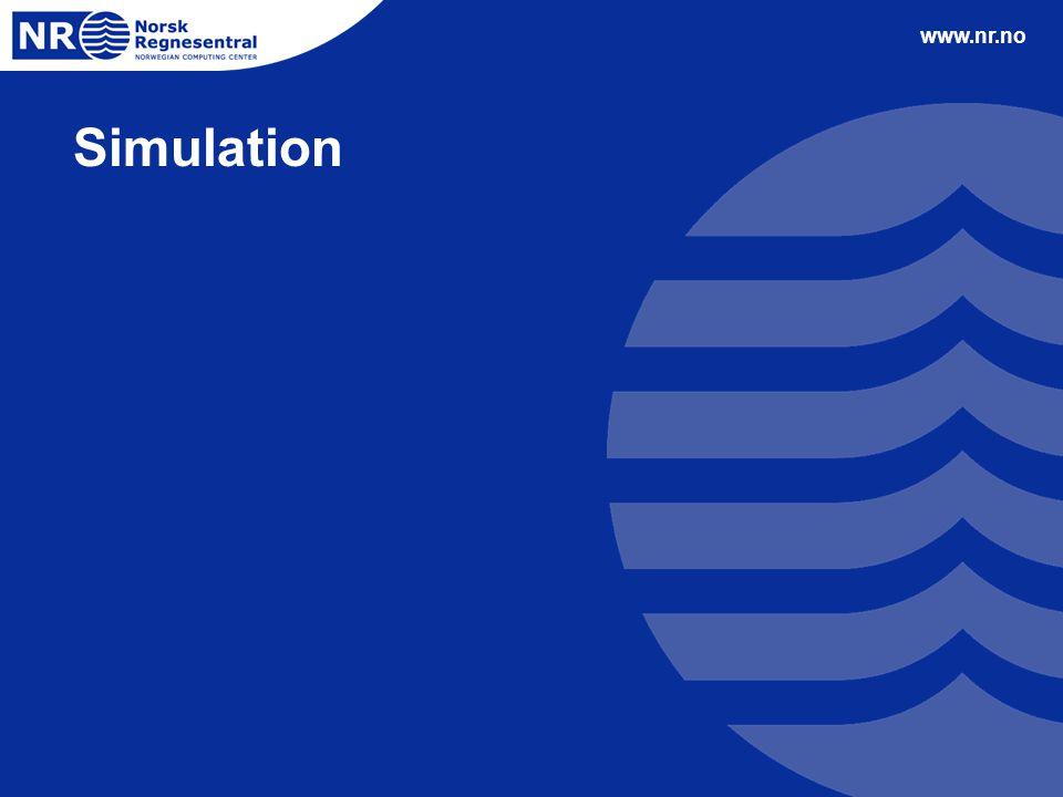 www.nr.no Simulation