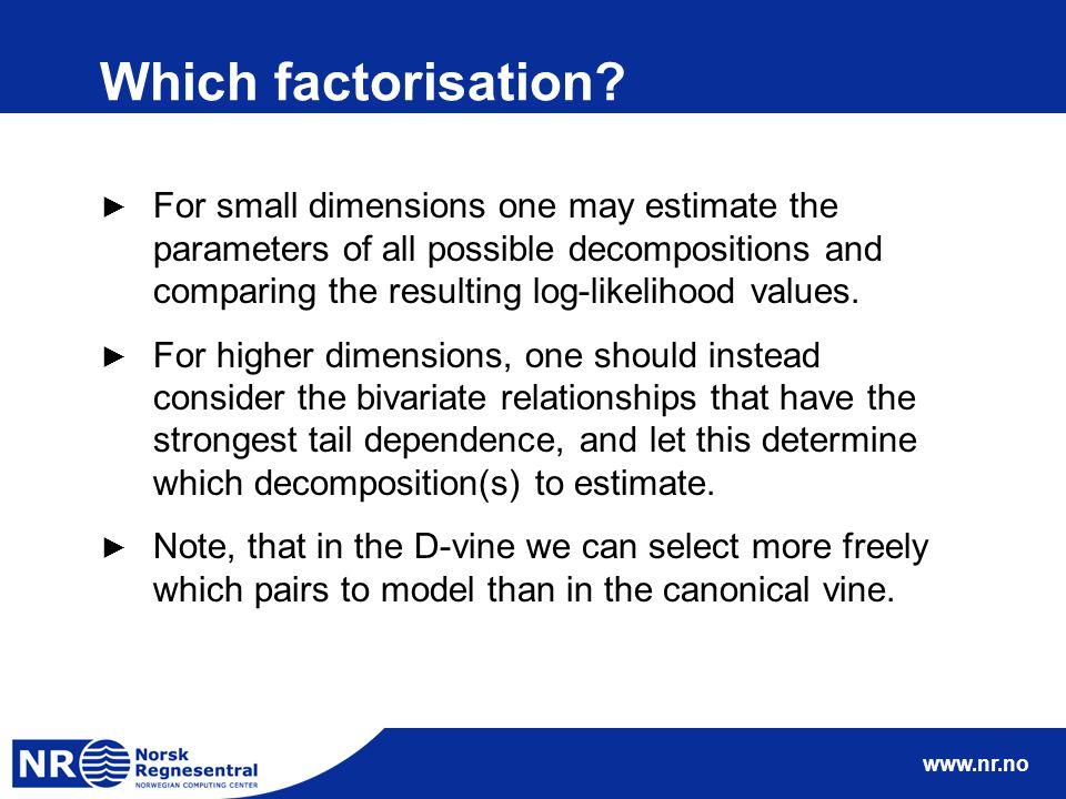www.nr.no Which factorisation.