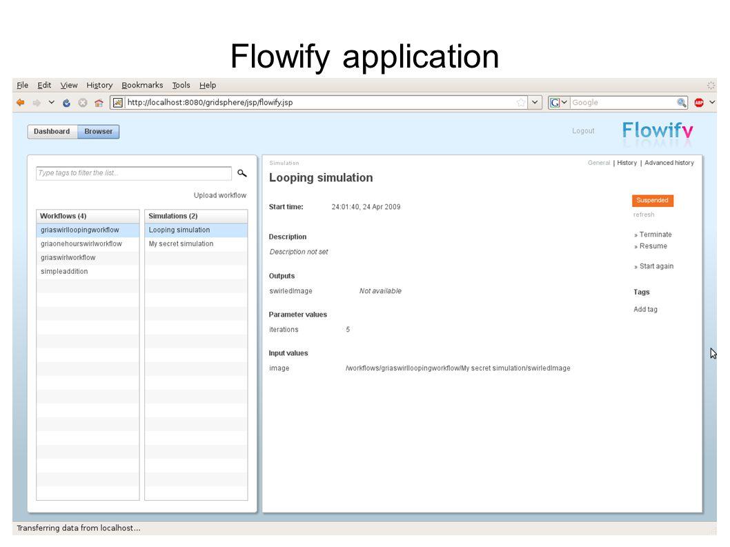 CGW 2009 Flowify application