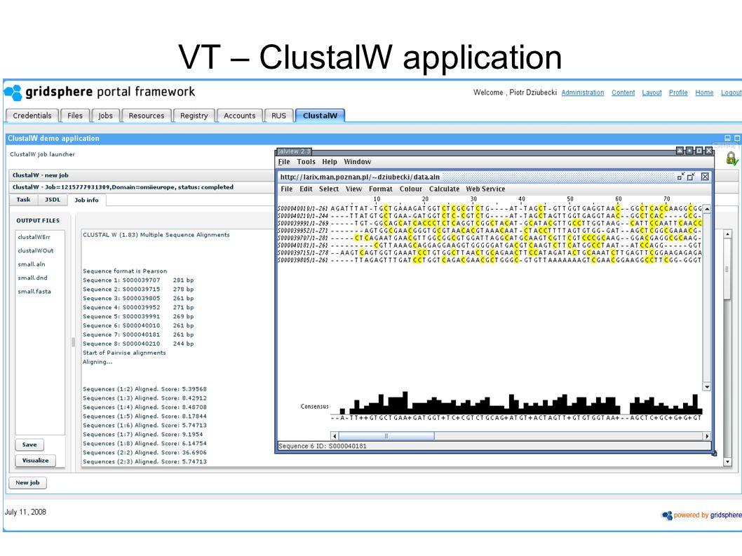 CGW 2009 VT – ClustalW application
