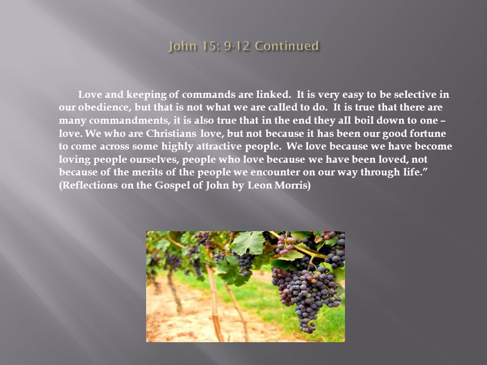 Love and keeping of commands are linked.
