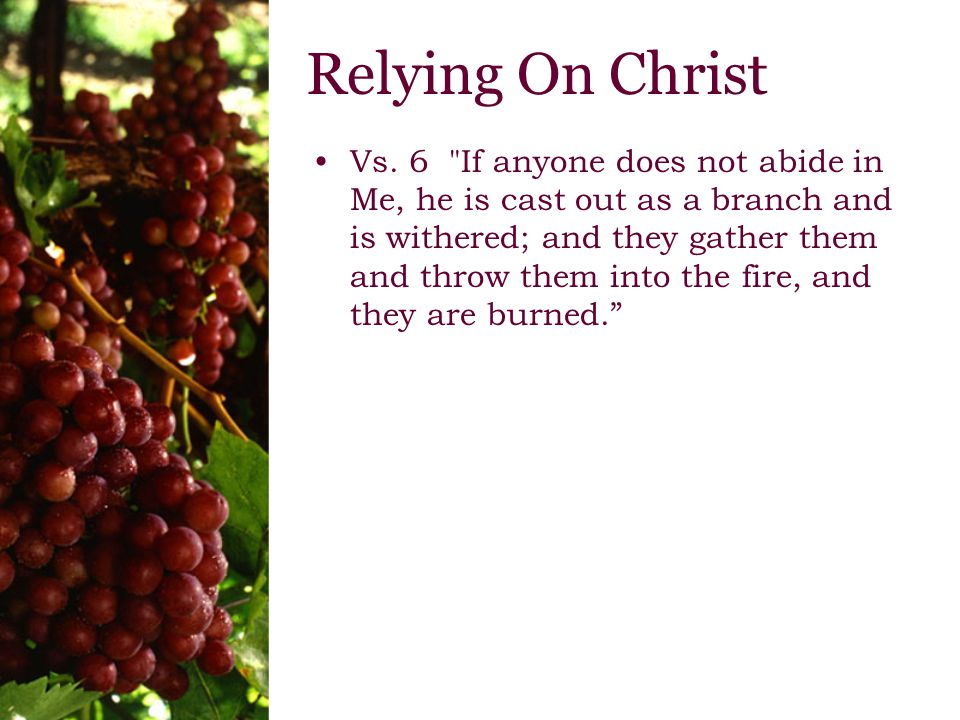 Remaining with Christ Vs.