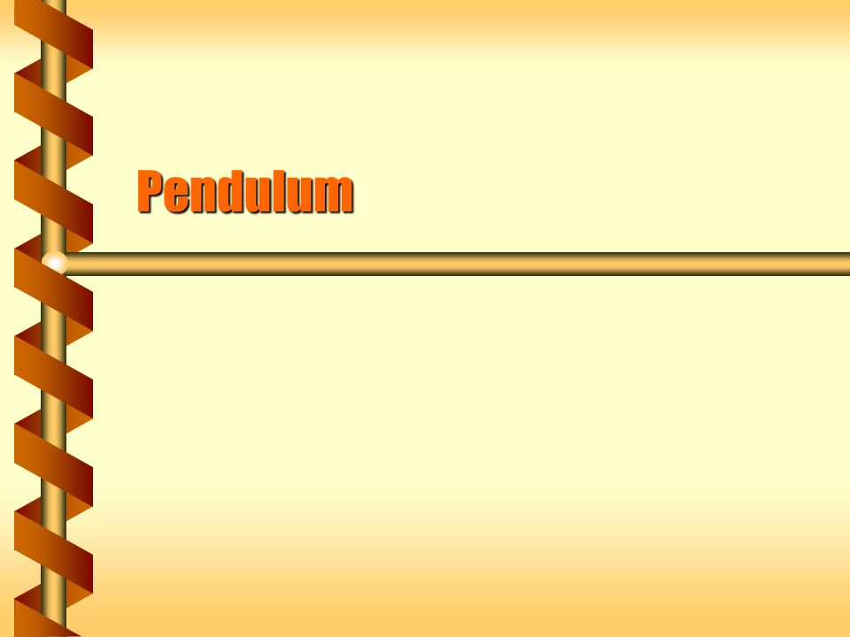 Force to Torque  A pendulum pivots at the top of the string.